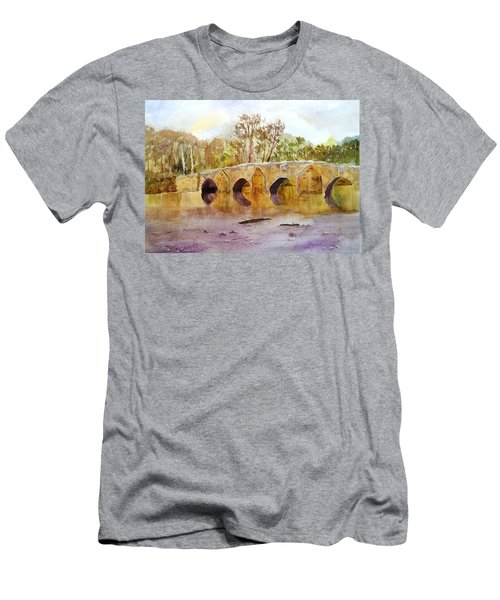 Wales Dipping Bridge Men's T-Shirt (Athletic Fit)
