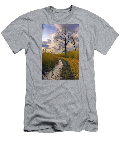 Walk With Me Men's T-Shirt (Slim Fit) by John Rivera