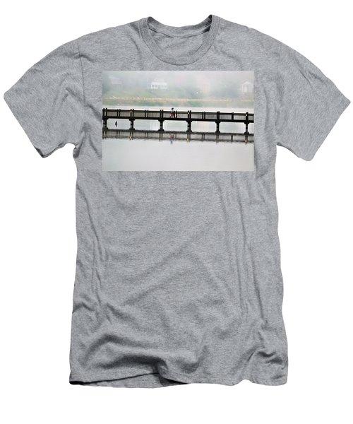 Walking Bridge Men's T-Shirt (Athletic Fit)