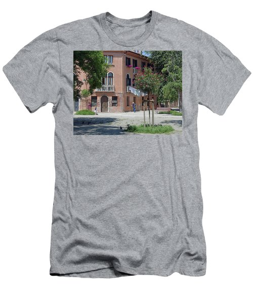 Walking In A Quiet Neighborhood On Murano Men's T-Shirt (Athletic Fit)