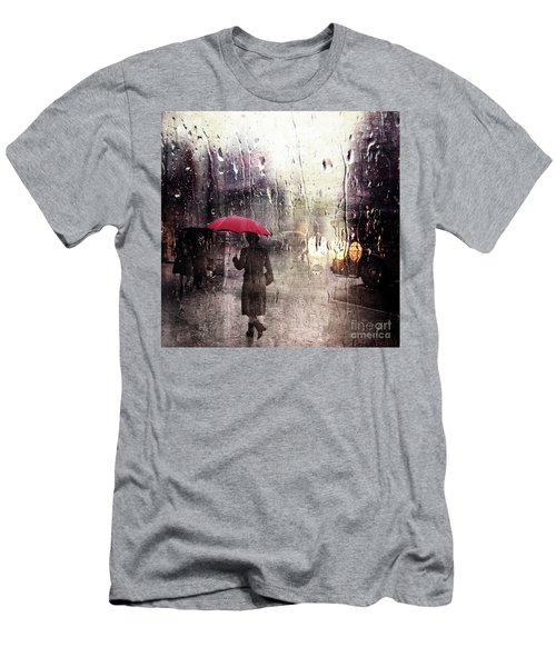 Walking In The Rain Somewhere Men's T-Shirt (Athletic Fit)