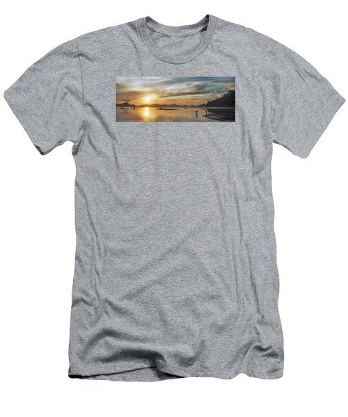 Walking In The Sun Men's T-Shirt (Slim Fit) by John Swartz