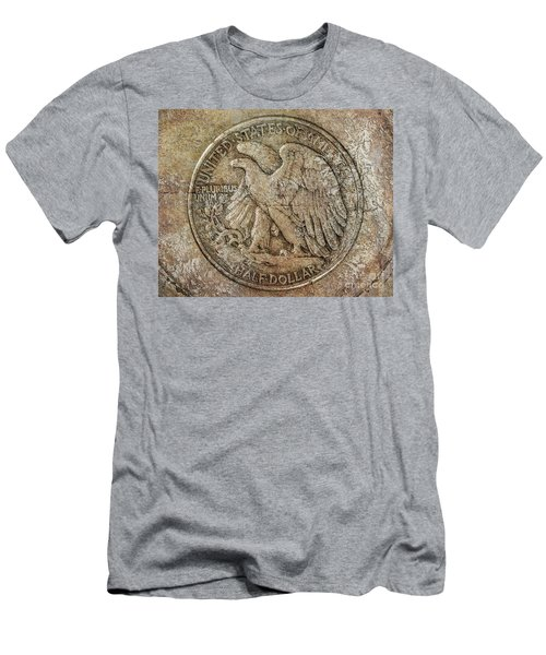 Walking Libery Half Dollar Reverse Men's T-Shirt (Athletic Fit)