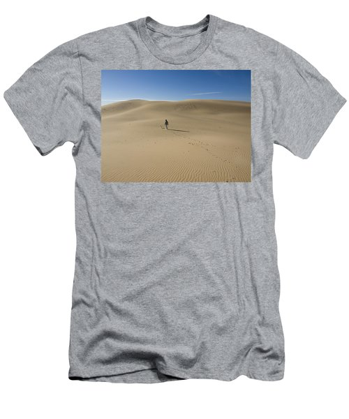 Walking On The Sand Men's T-Shirt (Slim Fit) by Tara Lynn