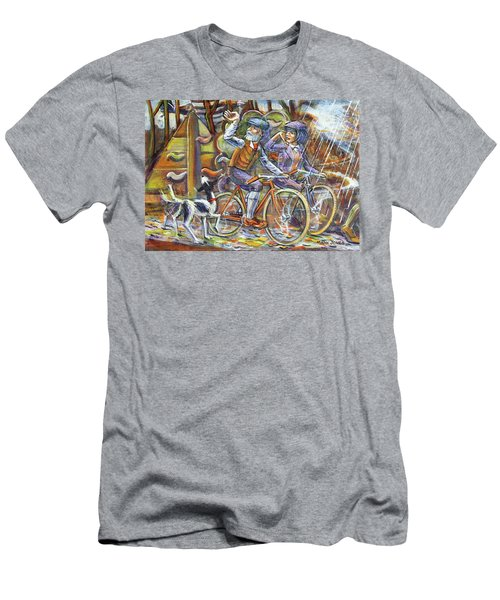 Walking The Dog 3 Men's T-Shirt (Slim Fit) by Mark Jones