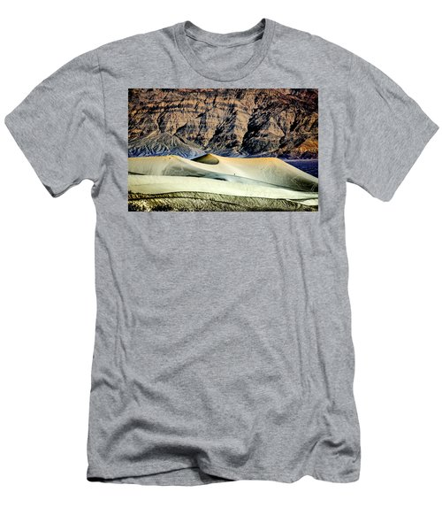 Walking The Dunes In Death Valley Men's T-Shirt (Slim Fit) by Janis Knight