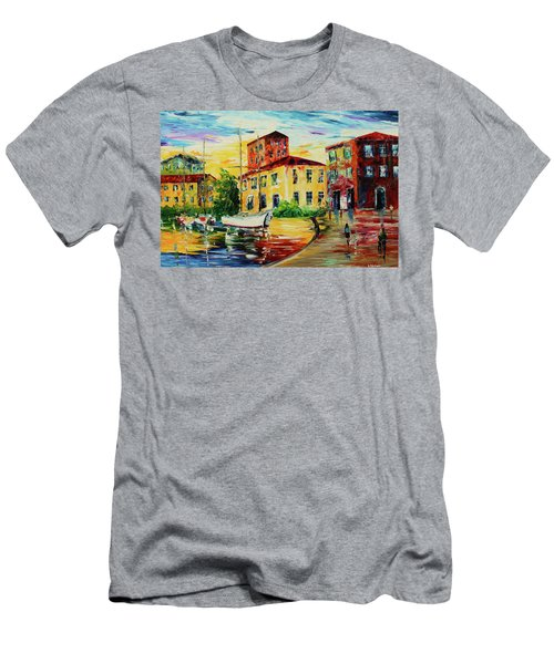 Walking The Harbor Men's T-Shirt (Athletic Fit)