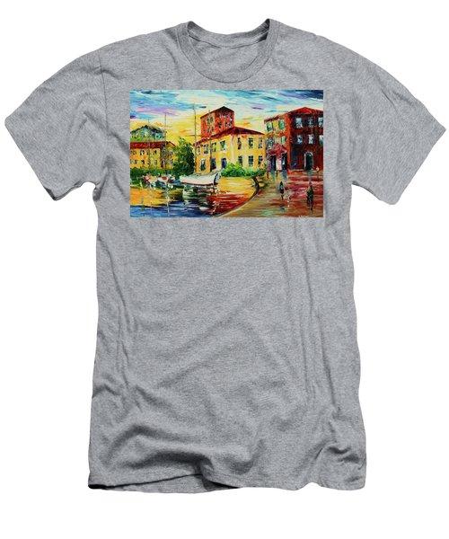 Walking The Harbor Men's T-Shirt (Athletic Fit)