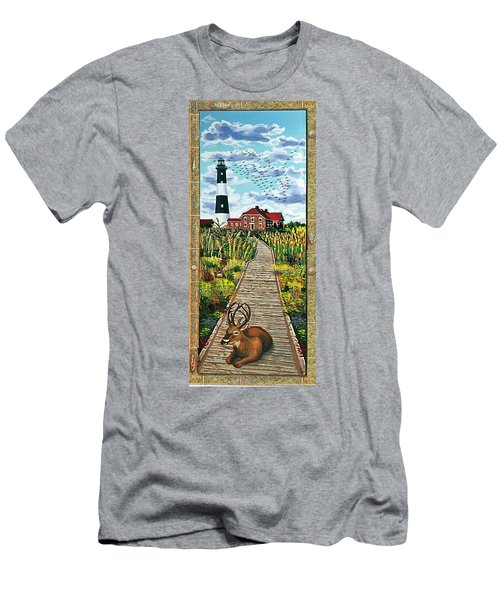 Walkway To Fire Island Lighthouse Men's T-Shirt (Athletic Fit)