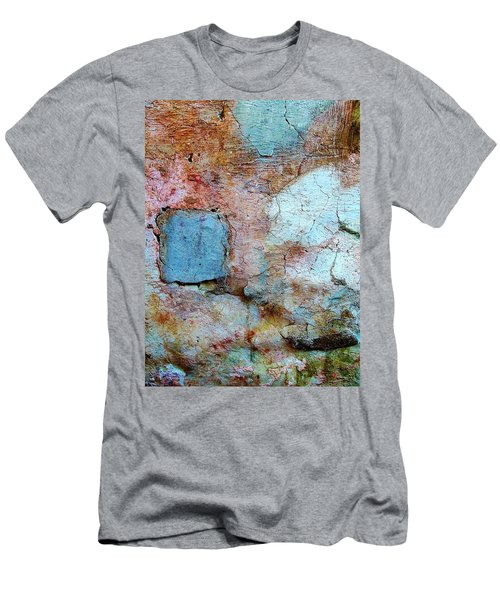 Wall Abstract 138 Men's T-Shirt (Slim Fit) by Maria Huntley