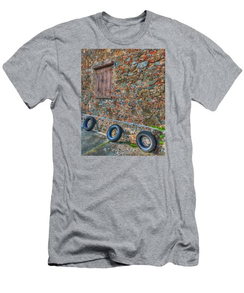 Wall Abstract Men's T-Shirt (Slim Fit) by James Hammond
