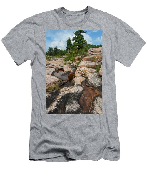 Wall Island Rock-3592 Men's T-Shirt (Athletic Fit)
