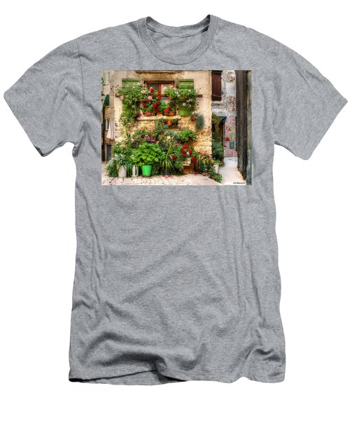 Wall Of Flowers Men's T-Shirt (Athletic Fit)