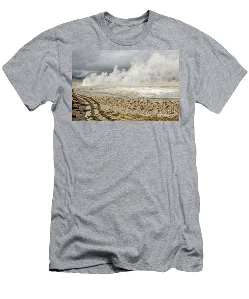 Men's T-Shirt (Athletic Fit) featuring the photograph Wall Of Steam by Sue Smith