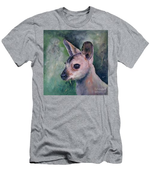 Wallaby Grazing Men's T-Shirt (Athletic Fit)