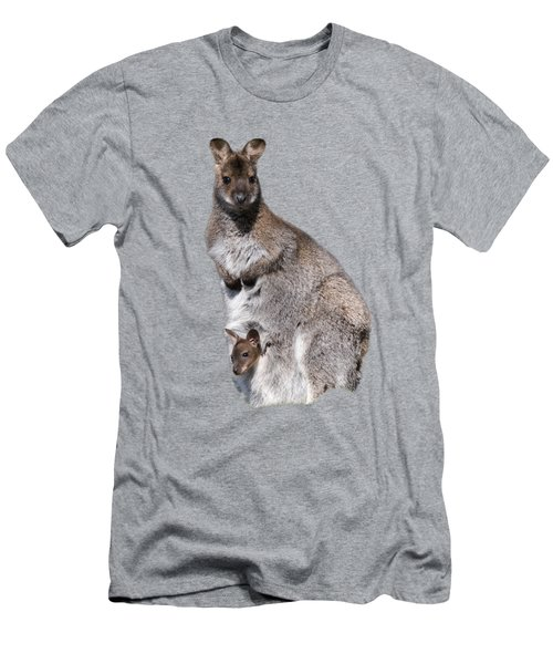 Wallaby Men's T-Shirt (Slim Fit) by Scott Carruthers