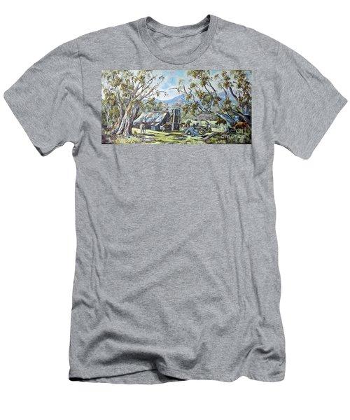 Wallace Hut, Australia's Alpine National Park. Men's T-Shirt (Athletic Fit)