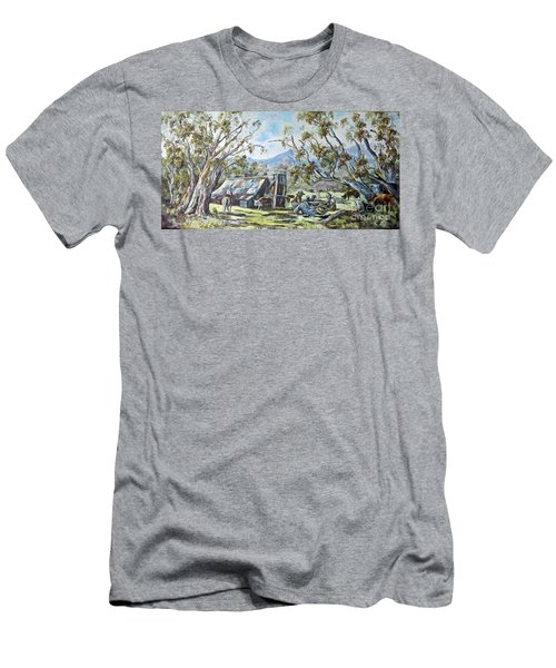Wallace Hut, Australia's Alpine National Park. Men's T-Shirt (Athletic Fit)