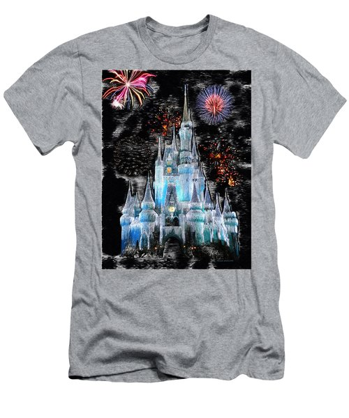 Walt Disney World Frosty Holiday Castle Mp Men's T-Shirt (Slim Fit) by Thomas Woolworth