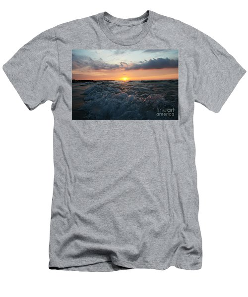 Wards Beach Sunset Wave Men's T-Shirt (Athletic Fit)