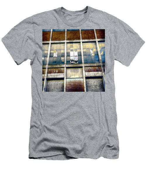 Men's T-Shirt (Slim Fit) featuring the photograph Warehouse Wall by Wayne Sherriff