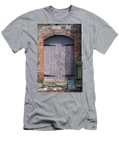 Warehouse Wooden Door Men's T-Shirt (Athletic Fit)