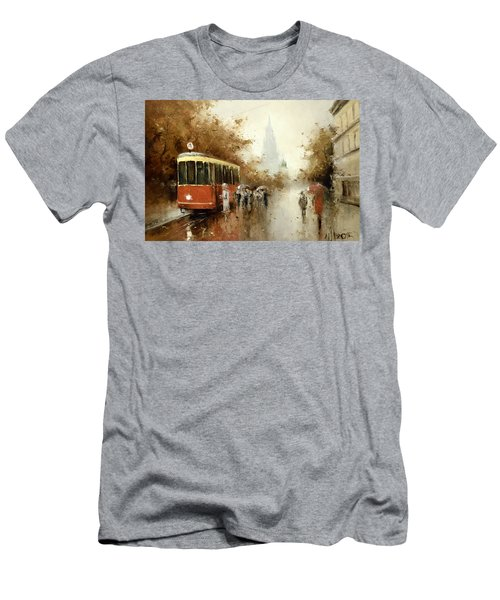 Warm Moscow Autumn Of 1953 Men's T-Shirt (Slim Fit) by Igor Medvedev