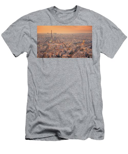 Men's T-Shirt (Athletic Fit) featuring the photograph Warm Paris Sunset by Darren White