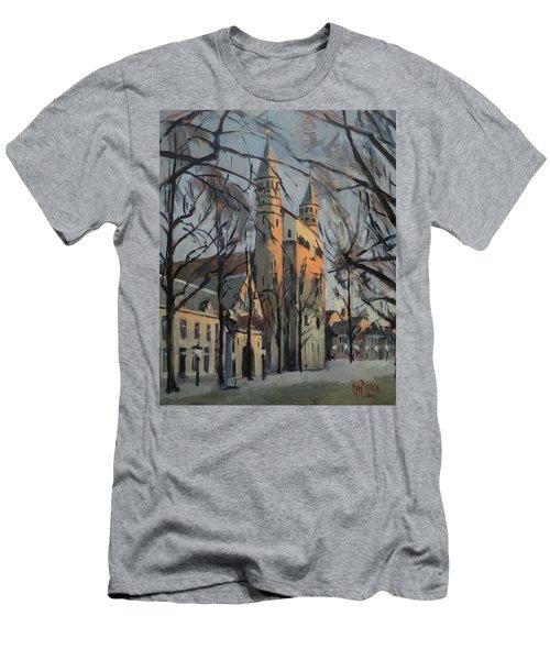 Warm Winterlight Olv Plein Men's T-Shirt (Athletic Fit)