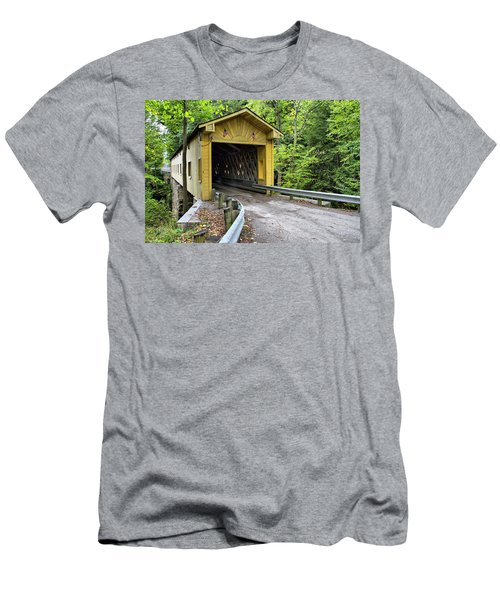Warner Hollow Covered Bridge Men's T-Shirt (Athletic Fit)