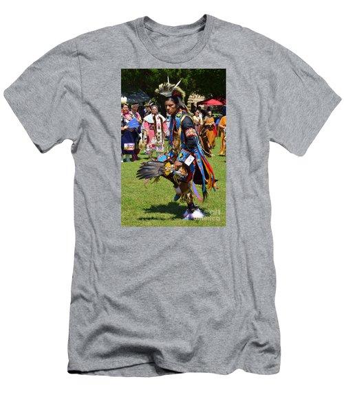 Men's T-Shirt (Slim Fit) featuring the photograph Warriors Dance by Lew Davis