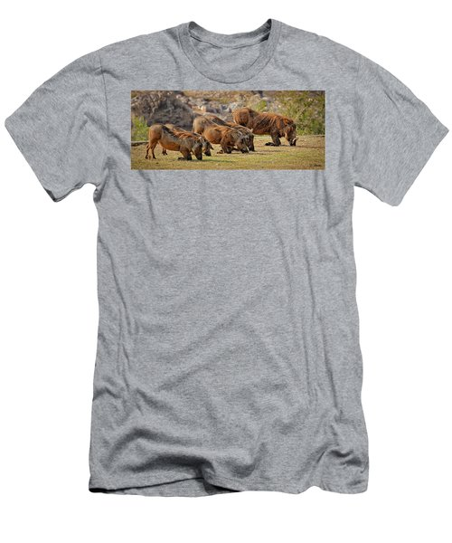 Warthogs Doing Lunch Men's T-Shirt (Athletic Fit)