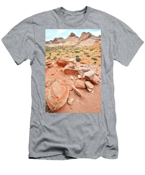 Men's T-Shirt (Slim Fit) featuring the photograph Wash 4 In Valley Of Fire by Ray Mathis