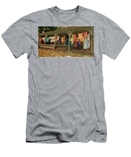 Men's T-Shirt (Athletic Fit) featuring the photograph Washday Alton Nh by Wayne King
