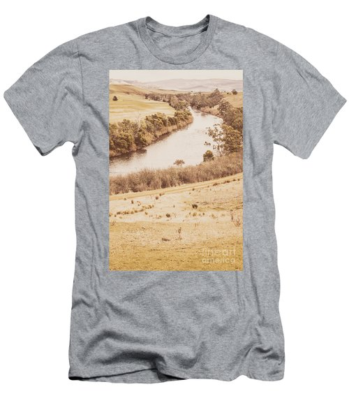Washes Of Rustic Country Men's T-Shirt (Athletic Fit)