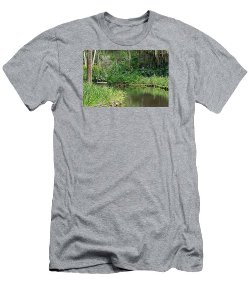 Washington Oaks Pond Men's T-Shirt (Slim Fit) by Kenneth Albin