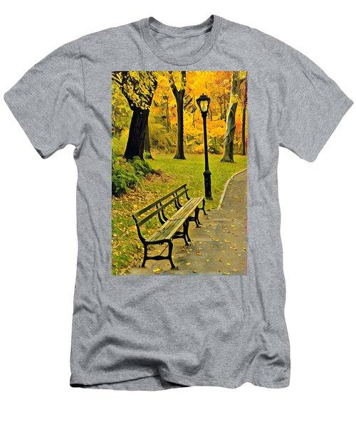 Washington Square Bench Men's T-Shirt (Athletic Fit)