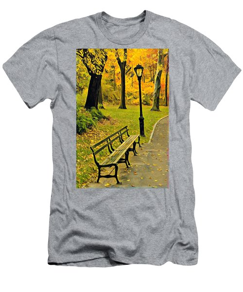 Washington Square Bench Men's T-Shirt (Athletic Fit)