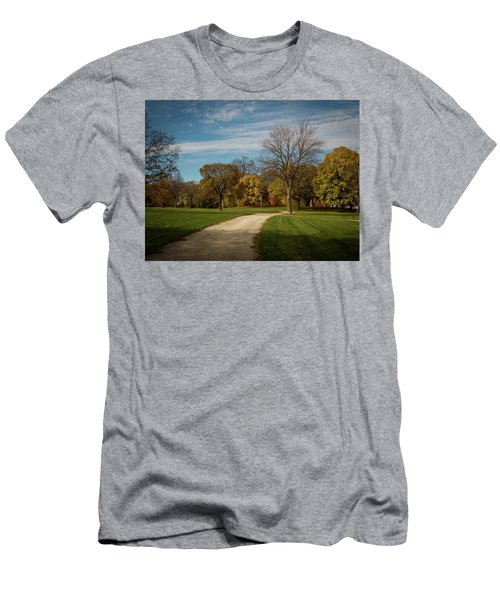 Washington Walkway Men's T-Shirt (Slim Fit) by Kimberly Mackowski