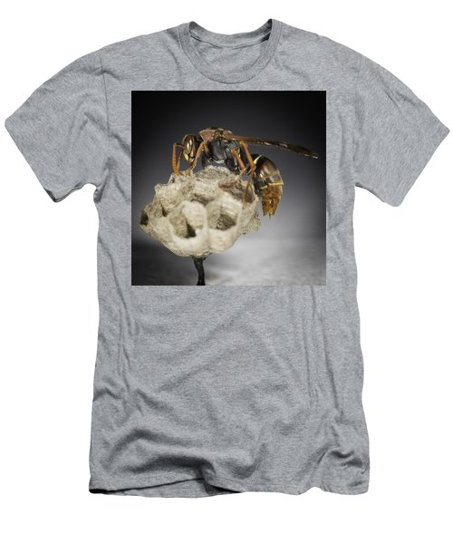 Men's T-Shirt (Athletic Fit) featuring the photograph Wasp On A Nest by Chris Cousins