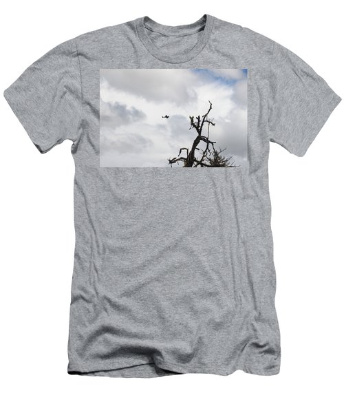 Men's T-Shirt (Slim Fit) featuring the photograph Watch Out For That Tree by Marie Neder