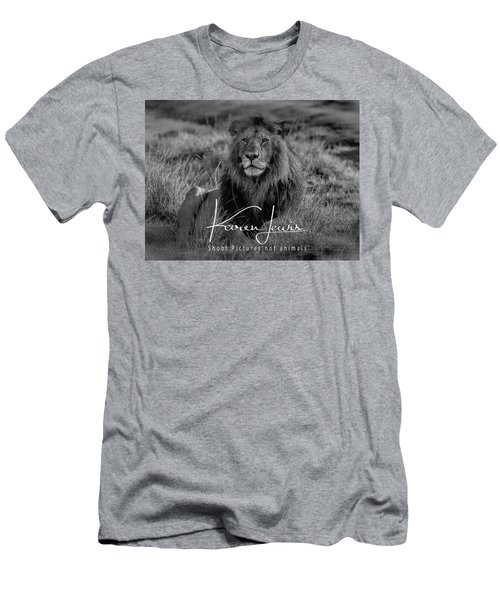 Men's T-Shirt (Slim Fit) featuring the photograph Watching And Waiting by Karen Lewis