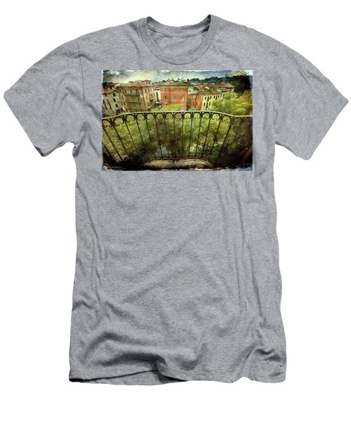 Watching From The Balcony Men's T-Shirt (Slim Fit) by Vittorio Chiampan