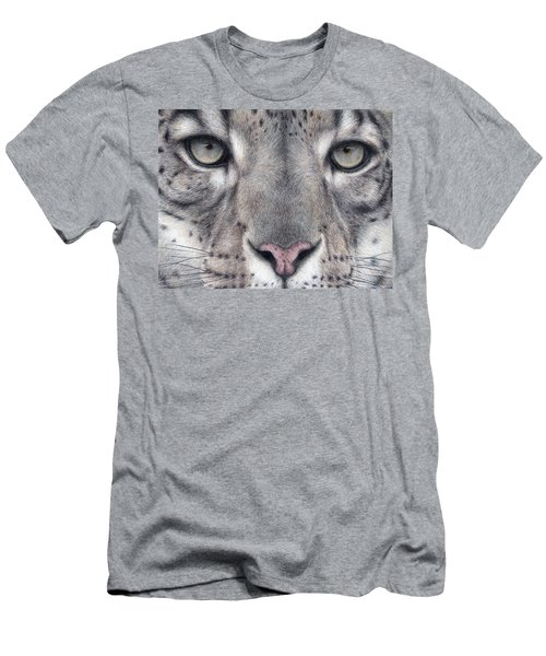Watching You...snow Leopard Men's T-Shirt (Athletic Fit)