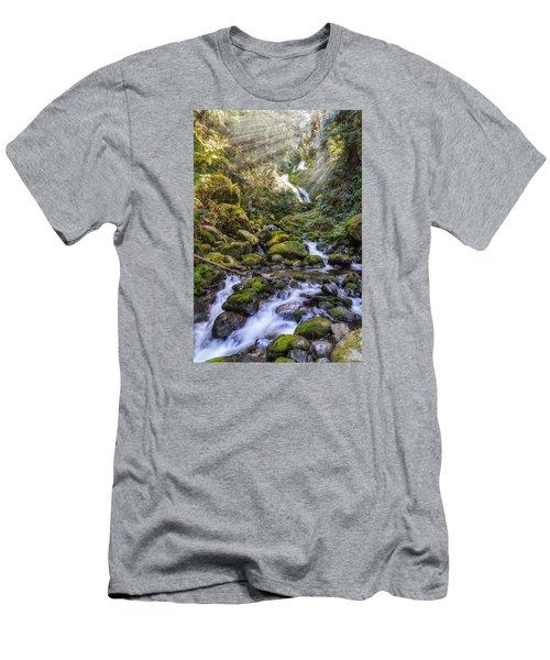 Water Dance Men's T-Shirt (Slim Fit) by James Heckt