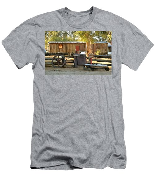 Men's T-Shirt (Slim Fit) featuring the photograph Water Draw At Hotel Nipton California By Floyd Snyder by Floyd Snyder