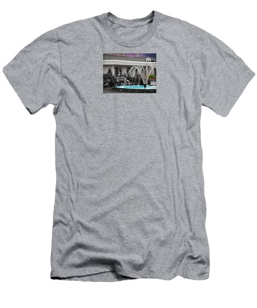 Men's T-Shirt (Slim Fit) featuring the photograph Water Fountain by Robin Regan