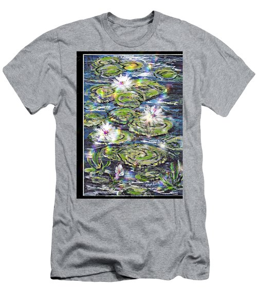 Water Lilies And Rainbows Men's T-Shirt (Slim Fit) by Desline Vitto