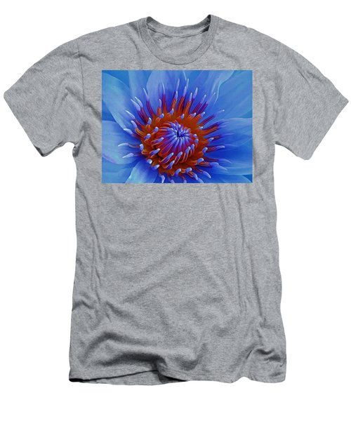 Water Lily Center Men's T-Shirt (Athletic Fit)