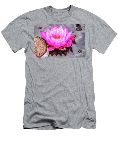 Water Lily In The Rain Men's T-Shirt (Athletic Fit)